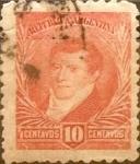 Stamps Argentina -  Intercambio 0,50 usd 10 cent. 1892