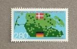 Stamps Europe - Denmark -  Mapa