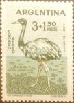 Stamps : America : Argentina :  Intercambio jlm 0,45 usd 3+1,50 pesos 1960