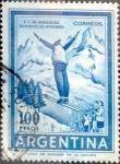 Sellos de America - Argentina -  Intercambio 0,20 usd 100 pesos 1961