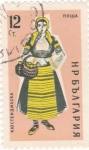 Stamps Bulgaria -  Traje regional bulgaro