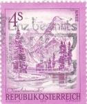 Sellos del Mundo : Europa : Austria : Paisaje alpino de Almsee