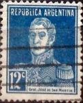 Stamps Argentina -  Intercambio 0,25 usd 12 céntimos 1923