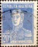Sellos de America - Argentina -  Intercambio 0,25 usd 20 céntimos 1923