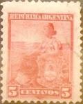 Sellos de America - Argentina -  Intercambio 0,30 usd 5 céntimos 1899
