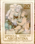 Sellos del Mundo : America : Argentina : Intercambio 0,30 usd 20 pesos 1969