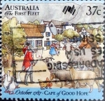 Stamps : Oceania : Australia :  Intercambio 0,70 usd 37 cents.1987