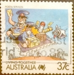 Stamps : Oceania : Australia :  Intercambio 0,20 usd 37 cents.1988
