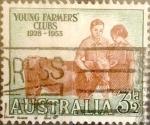 Sellos de Oceania - Australia -  Intercambio nfyb2 0,20 usd 3,5 pence  1953