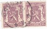 Sellos de Europa - Bélgica -  Escudo con leon rampante