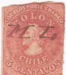 Stamps Chile -  Cristobal Colon