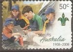 Stamps : Oceania : Australia :  CENTENARIO  DEL  MOVIMIENTO  SCOUTS