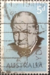 Sellos de Oceania - Australia -  Intercambio 0,20 usd 5 pence 1965