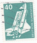 Stamps Germany -  Nave espacial