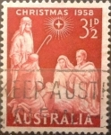 Stamps : Oceania : Australia :  3,5 pence 1958