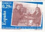 Sellos de Europa - España -  150 Aniversario del voto de las mujeres en España (17)