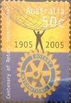 Stamps Australia -  Intercambio 0,80 usd 50 cents. 2005