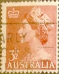 Stamps : Oceania : Australia :  Intercambio 0,40 usd 3,5 pence 1953