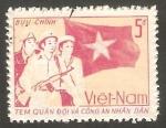 Stamps : Asia : Vietnam :  Militares y Bandera