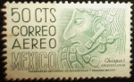 Stamps of the world : Mexico :  Bajo Relieve de una Estela, Ruinas de Bonampak, Edo. Chiapas