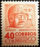 Stamps of the world : Mexico :  Cabeza Olmeca, La Venta, Edo. Tabasco