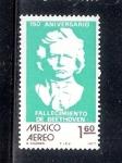 Sellos del Mundo : America : México : 150 aniversario del fallecimiento de Beethoven