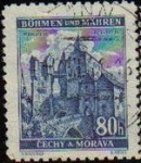 Stamps Europe - Czechoslovakia -  CHECOSLOVAQUIA BOHEMIA Y MORAVIA 1940 SCOTT 41 Sello Castillo Pernstein Usado BOHMEN und MAHREN CECH