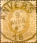 Sellos de Europa - Bélgica -  Intercambio 1,50 usd 25 cents. 1875