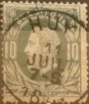 Sellos del Mundo : Europa : Bélgica : Intercambio 0,40 usd 10 cents. 1869