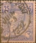 Sellos del Mundo : Europa : Bélgica : Intercambio 0,75 usd 25 cents. 1885
