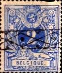 Sellos de Europa - Bélgica -  Intercambio 1,50 usd 2 cents. 1870