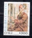 Stamps Chile -  Pintura Chilena: Autorretrato Augusto Eguiluz