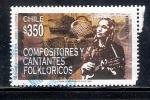 Sellos del Mundo : America : Chile : Compositores y cantantes folklóricos: Violeta Parra