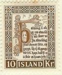 Sellos del Mundo : Europa : Islandia : Viejos manuscritos islandeses
