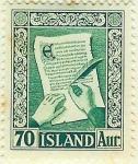 Stamps Iceland -  Viejos manuscritos islandeses
