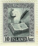 Stamps Europe - Iceland -  Viejos manuscritos islandeses