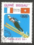 Sellos de Africa - Guinea Bissau -  Olimpiadas de invierno Sarajevo 84
