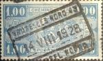 Sellos de Europa - Bélgica -  Intercambio 0,20 usd 1 franco 1923