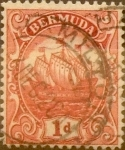 Stamps : America : Bermuda :  Intercambio 0,35 usd 1 penny 1916