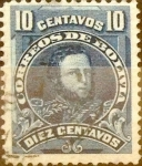 Stamps : America : Bolivia :  Intercambio 0,20 usd 10 cents. 1901