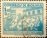 Stamps : America : Bolivia :  Intercambio 0,20 usd 20 cents. 1947