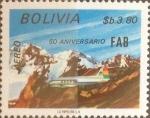 Stamps : America : Bolivia :  Intercambio 1,25 usd 3,80 bolivares 1984