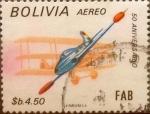 Stamps : America : Bolivia :  Intercambio 0,65 usd 4,50 bolivares 1984