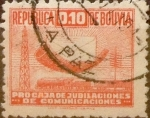 Stamps : America : Bolivia :  Intercambio 0,20 usd 0,10 bolivares 1944