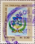 Stamps : America : Bolivia :  Intercambio 0,20 usd 0,30 bolivar 1968