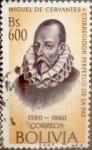 Stamps : America : Bolivia :  Intercambio nfyb2 0,20 usd 600 bolívares 1961