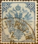 Stamps : Europe : Bosnia_Herzegovina :  Intercambio 1,20 usd 10 novcica 1879