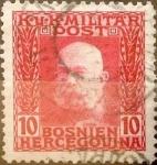 Stamps : Europe : Bosnia_Herzegovina :  10 heller  1912