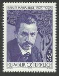 Stamps : Europe : Austria :  Rilke (poeta)