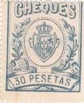 Sellos de Europa - España -  CHEQUES  (17)